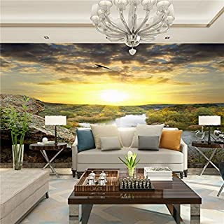 Large 3D Stereo Wallpaper Mural Mountain Sunset Landscape Bedroom TV Background Wall