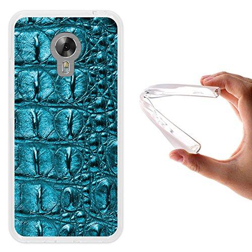 WoowCase Acer Liquid Z6 Plus Hülle, Handyhülle Silikon für [ Acer Liquid Z6 Plus ] Tier Haut des blauen krokodil Handytasche Handy Cover Case Schutzhülle Flexible TPU - Transparent