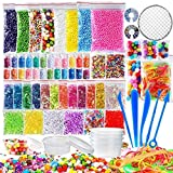 72pezzi making Kits forniture per Slime, tra cui palline, boccia, net, vasetti di glitter, perline, carta da zucchero, cucchiaio di legno, contenitori per Slime making Craft