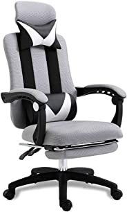 Computer Chair, Home Office Chair, Ergonomic Electric Competition Chair, Reclining Leg Rest, Lifting Swivel Chair, Mesh Staff Chair, Comfortable And BreathableGray excellent