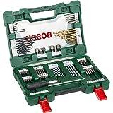 Bosch Professional 2607017195 Bosch V-Line Titanio - Maletín de 91 unidades para taladrar y atornillar, 0 W, 0 V, Set Piezas