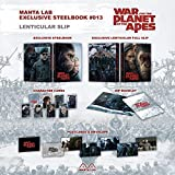 WAR FOR THE PLANET OF THE APES STEELBOOK 2D+3D LENTICULAR FULL SLIP Numbered Only 300 Made Region Free