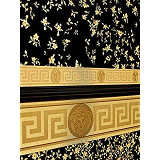 A.S. Creation 935262 Line Versace 3 Pattern Paper Wallpaper, Multi-Colour