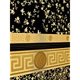 Versace frontera - Material: Non-woven material en vinilo - Color: Oro - artículo nº 1504-2779