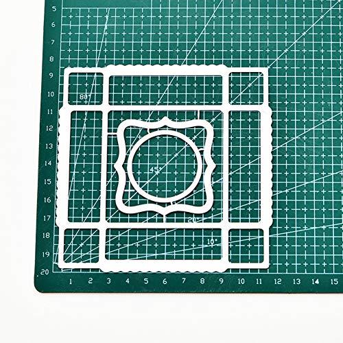 periwinkLuQ Quadratische Box Metall Stanzformen DIY Scrapbooking Decor Album Prägung Schablonen silber