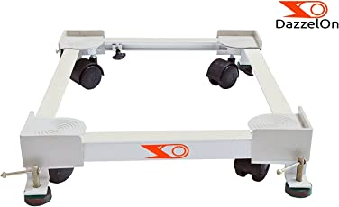 Dazzelon Multi-Functional Movable Adjustable Base Swivel Wheels Trolley Stand For Top Load Washing Machine