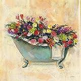 The Poster Corp Carol Rowan – Bathtub Bouquet I Fine Art Print (30,48 x 30,48 cm)