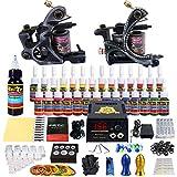 Solong Tattoo equipos del Tatuaje Completo 2 Maquina de Tatuaje 28 Tintas Fuente de Alimentacion Pedal Agujas Grips Consejos TK224