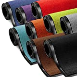 Schmutzfangmatte ColorLine | Türmatte in vielen Größen | Fußmatte für Innenbereich | rutschfester Teppich für Flur, Haustür, Eingang, Eingangsbereich, Vorzimmer - Schwarz 60x180 cm