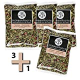 3+1 gratis NIEREN-MISCHUNG Kräuter-Tee - Mischung stark entwässernder, entschlackender und Stoffwechsel anregender Kräuter - reinigend - ähnlich Schwedenkräuter