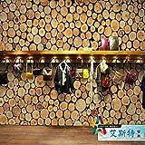 Tantoto 3D WallStickers&Murals Wallpaper 3D Wood-Grain Holzstapel Tapeten Club Restaurants Cafe Bars Boutiquen Hintergrund Wandmalerei Eine Einfache Wallpaper