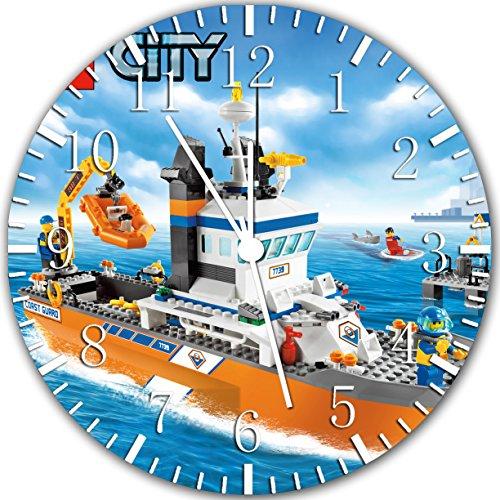 Y03 Bordlose Kinder-Wanduhr mit Stadtschiff, Rahmenlos, ideal als Dekoration oder Geschenk