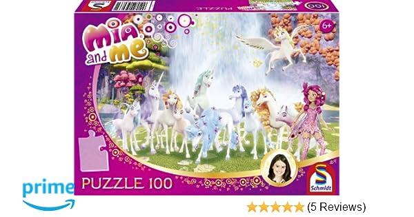 Glitzerpuzzle Spiel Mia and me 200 Teile Deutsch Mia im Elfenpalast Mia and Me