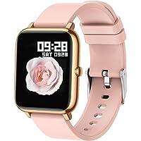 Popglory Montre Connectée Smartwatch Cardiofrequencemètre Moniteur de Sommeil Pression Artérielle Compatible Android iOS…