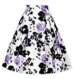 Elegant 50s rockabilly röcke blumendruck hepburn stil röcke für damen S CL8925-4