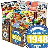 Original seit 1948 | Ostprodukte | 24tlg. Geschenkbox mit Ost Spezialitäten Sandmann + Held der Arbeit + Perligran +