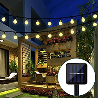 BAOANT Solar String Lights Fairy Crystal Ball String Lights Starry Lights for Garden Home Wedding Patio Summer Festival Holiday Party Christmas Indoor Outdoor Use (20Ft, 2 Modes,30 LED)