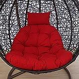 LUMBAR Silla colgante Columpio de cesta Cuna nido Estera de cesta Amortiguador de adulto silla de oscilación de la silla de mimbre Interiores Cojín del balcón-F 105x105cm(41x41inch)