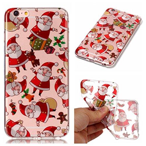 Apple iPhone 6 Plus/6S Plus 5.5 Hülle, Voguecase Silikon Schutzhülle / Case / Cover / Hülle / TPU Gel Skin Handyhülle Premium Kratzfest TPU Durchsichtige Schutzhülle für iPhone 6 Plus/6S Plus(Weihnach Weihnachtsmann 03
