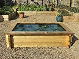 Raised Garden Ponds With Liner - 6ft x 4ft (26.5in)