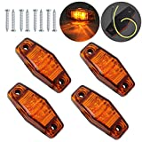 Justech Justech 4 x 2 Dioden Seite Marker Lights Seite Fender Marker Montage Wasserdicht LED Position Seite Lampen