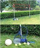 Beach Volleyballnetz Badmintonsetz mit Badminton und Softtennis Schlägern