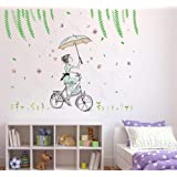 Amazon Brand - Solimo Wall Sticker for Living Room (It's a Good Day to Ride, Ideal Size on Wall - 120 cm x 92 cm)