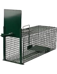 Moorland®Trampa animales vivos - Martas Conejos Ratas - 60x23x23cm Trampa de alambre - Resistente al tiempo