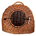 Wicker Cat Basket Mesh Door and Handle Travel Transport Cave Safe Snuggle from Trixie