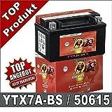 Motorrad Batterie 7Ah YTX7A-BS AGM GEL GTX7A-BS, FTX7A-BS 50615 Banner