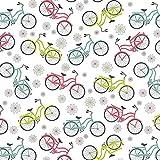 Bike Fahrrad Stoff?0,5m?BEN174?100% Baumwolle BEN174 Bikes Floral
