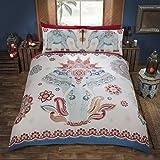 Made mit böhmischen Geist Inspiriert Bettbezug Bettwäsche Set–Einfache Pflege, Baumwollmischung, Multi Blue & Red, Einzelbett
