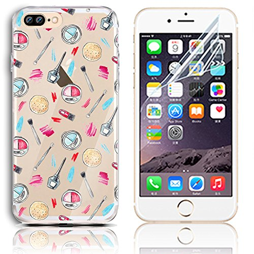 iPhone 7 Plus Silikon Hülle,iPhone 7 Plus Hülle,Sunroyal TPU Case Schutzhülle Silikon Crystal Kirstall Clear Case Durchsichtig,Cute Lovely Funny China Panda Ballon Malerei Muster Transparent Weichem S Pattern 32