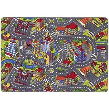 misento 293303 Tapis pour Enfant Motif Rues 140 x 200 cm