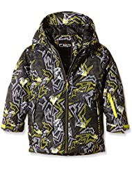 CMP -  Chaqueta de esquí para niños, multicolor (negro - nero-oil green-lemon 544p), talla 5 años (110 cm)