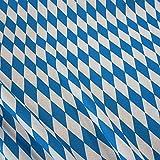 Stoff Meterware Baumwolle Bayernraute blau weiß Bayern