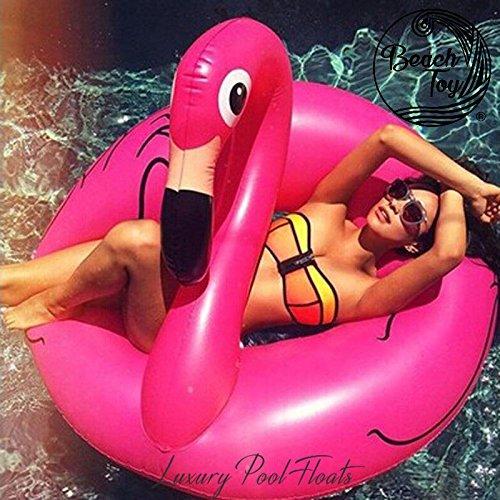 Beach Toy ® - Bouée géante gonflable FLAMANT ROSE, livraison rapide, Best Seller