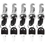 5 Pack Cam Lock Beveiliging Mailbox Lock 20mm met 2 sleutels, Kastvergrendeling, Cam Lock, Deurslot, Brievenbusslot, Kabinets