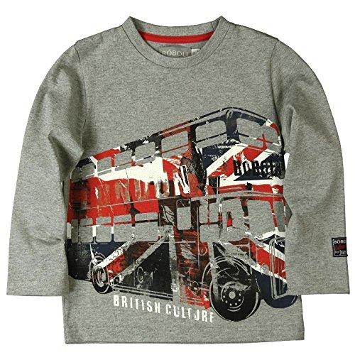 boboli Baby-Jungen T-Shirt Camiseta Punto Liso , grau (gris vigore), größe 8 Jahre