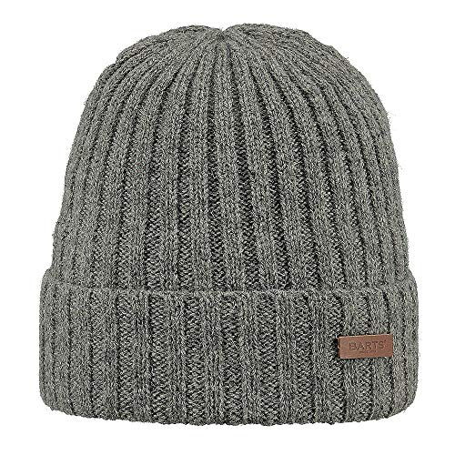 bb9c2b27 Barts Haakon Turnup, Béret Homme, Gris (Heather Grey), Unique (Taille  Fabricant: Unica)