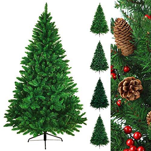 Christbaum künstlicher Weihnachtsbaum Tannenbaum TREEDITION in verschiedenen Größen und Farben inkl. Standfuß künstliche Tanne mit Klappsystem, Höhe:210 cm (1.160 Spitzen), Farbe:Hellgrün