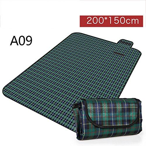 wysm Tappetino da pic nic 150 * 200 centimetri di umidità pad thickening Oxford panno tappetino portatile picnic tetti all'aria aperta ( Colore : A03 ) A09