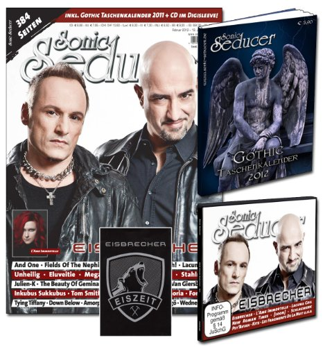 Sonic Seducer 02-12 limited Edition, mit Eisbrecher-Titelstory + Gothic Taschenkalender 2012 + Eisbrecher XL-Sticker + CD, Bands: Unheilig, And One, Evanescence, Oomph, Corvus Corax u.v.m.