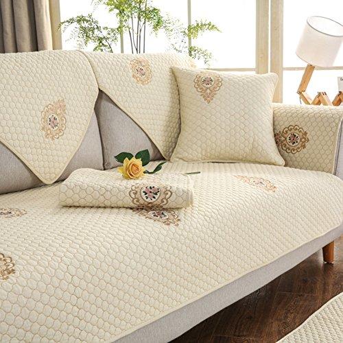 100 % baumwolle Einfache Sofa slipcover möbel beschützer für hund kinder, Sofa slipcver Verdicken sie Sofaüberwurf Anti-rutsch Trägerlos-C 28x59inch(70x150cm) (Couch Loveseat Liege)
