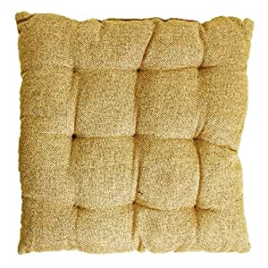 """Story@Home Square Jute Chair Pad - 14""""x14"""", Dust Brown"""