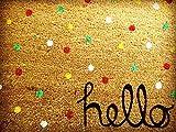 Kokos-Fußmatte Hello