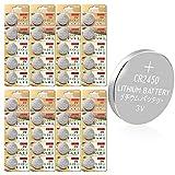CR2450 Batterie 3V Lithium Knopfzelle 600 mAh Uhren Digital Foto Kamera Küche Küchen Waage (CR2450-40 Stück)