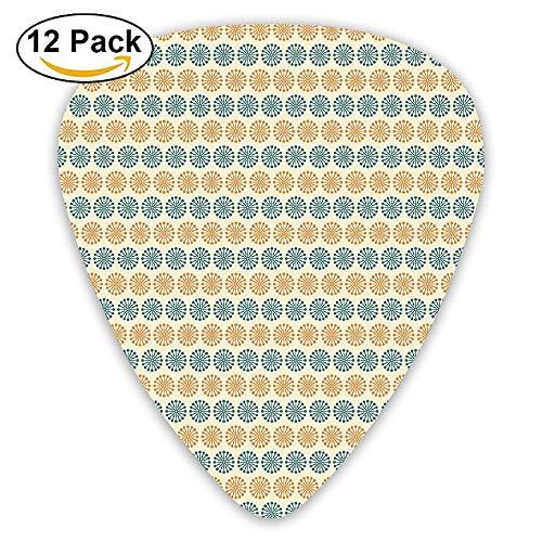 Several Mixed Flower Petals Pattern With Abstract Effect Nature Beauty Guitar Picks 12/Pack Set