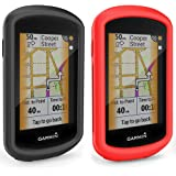 TUSITA Cas pour Garmin Edge GPS Explorer - Housse de Protection en Silicone Peau - écran Tactile Touring Bike Computer Accessoires (2-Pack)