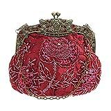 DA BODAN Vintage Clutch Floral Perlen Stickerei Clutch Pailletten Hochzeit Party Prom Bag Bridal...